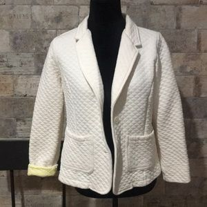 Ivory Quilted Blazer by Isaac Mizrahi Live - Sz S